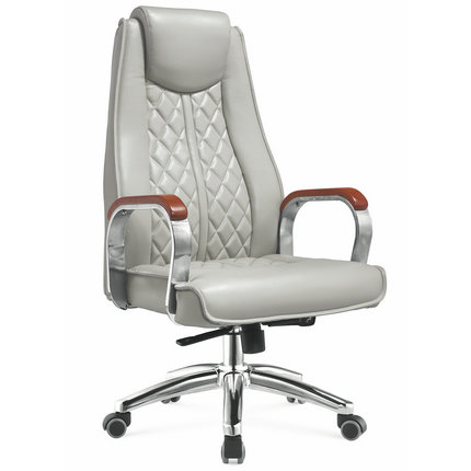 china factory executive gray pu leather upholstered office chairs