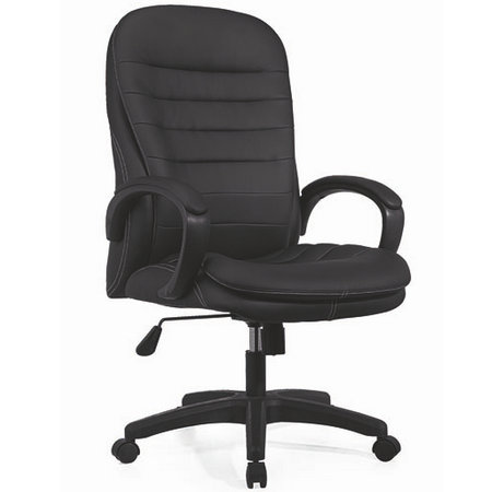 Anji High Quality Soft Pad Black Office Leather Computer